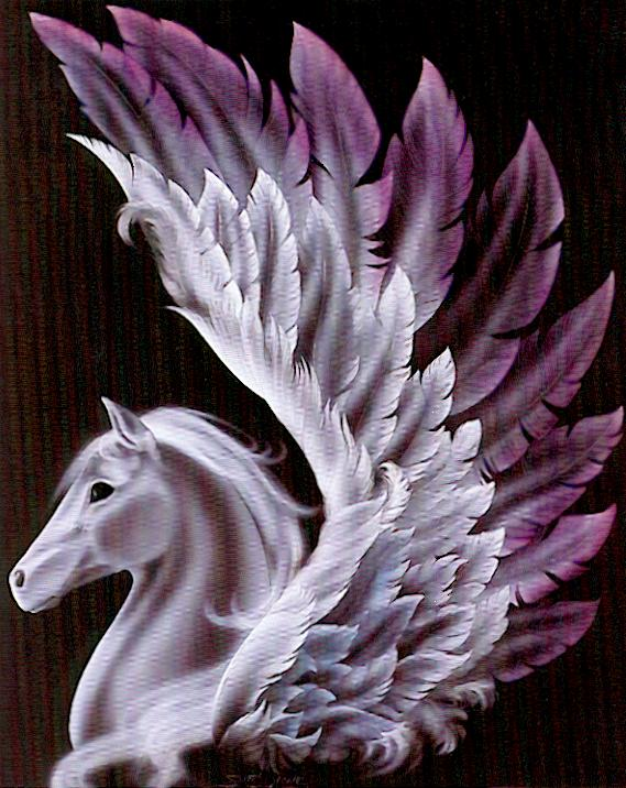 My Mystical Horses Black%20and%20White%20Pegasus